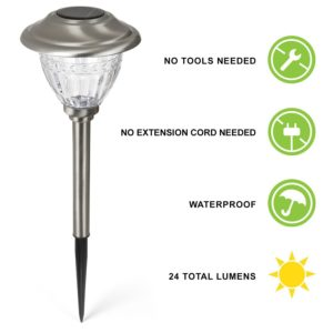 8 u2013 lamplust water resistant solar stainless steel path lights - Path Lights