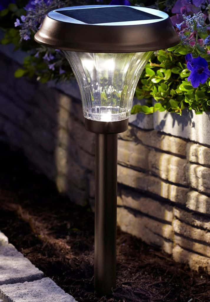 Solar Path Lights Part - 21: #1 Best Overall Solar Path Light U2013 Moonrays LED Metal Path Light