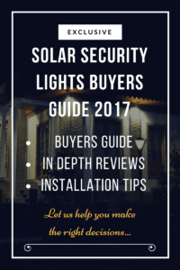 Best Solar Security Lights Buyers Guide 2017