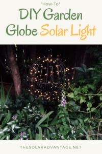 DIY Garden Globe Solar Light