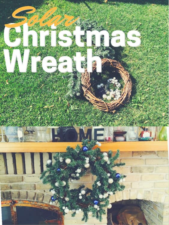 Solar Christmas Wreath