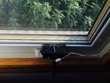 solar panel in window