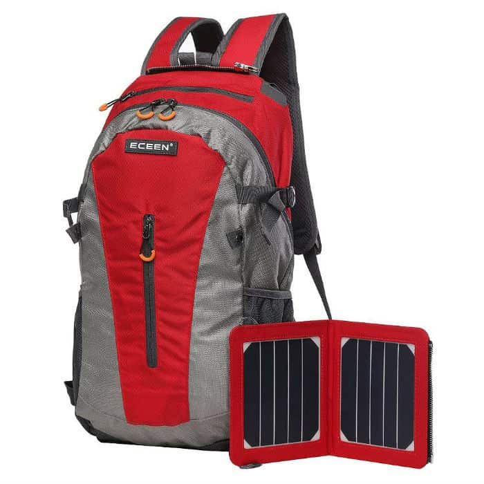 Removable Solar Panel Solar Backpack