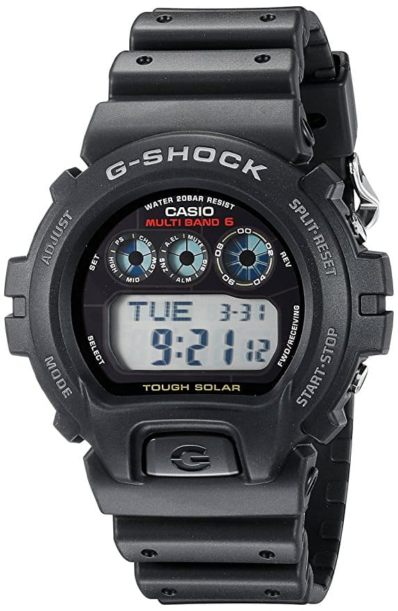 5 - G-Shock GW6900 Men's Tough Solar Black Resin Sport