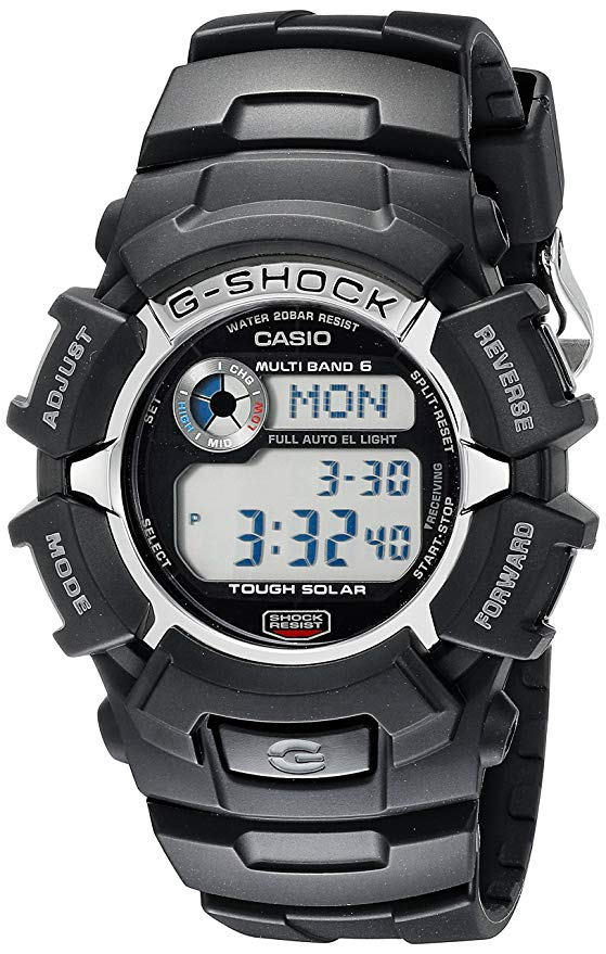 6 - G-Shock GW2310-1 Men's Tough Solar Atomic Black Resin Sport Watch