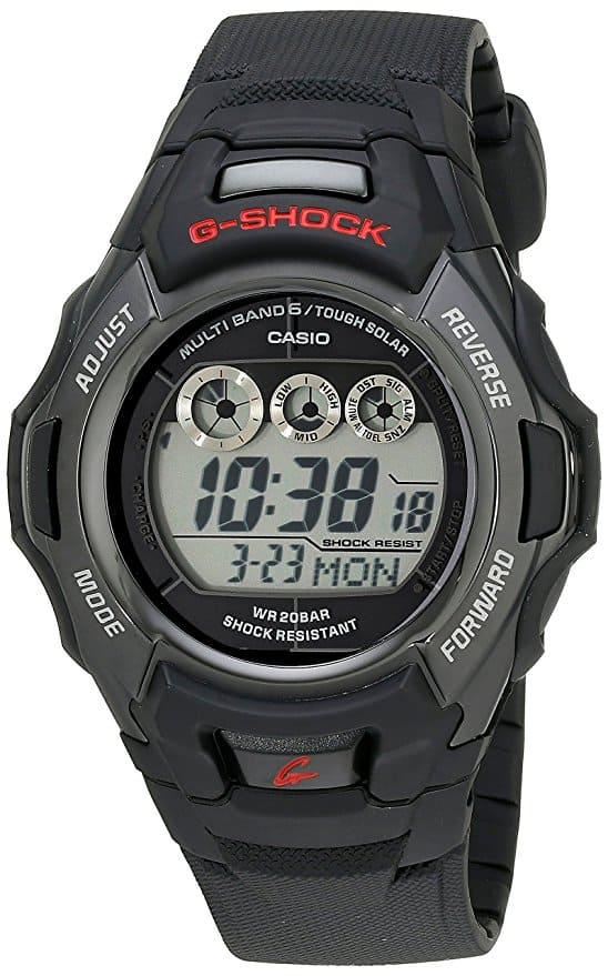 8 - G-Shock Men's Tough Solar Black Resin Sport Watch