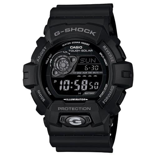 9 - Casio Men's GR8900A-1 G-Shock Tough Solar Digital Black Resin Sport Watch