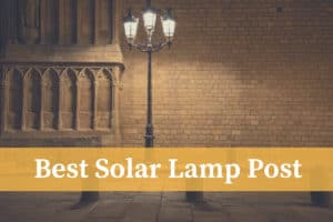 best solar lamp post on the street