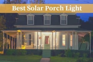 best solar porch light