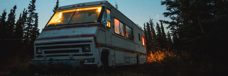 RV in the wilderness