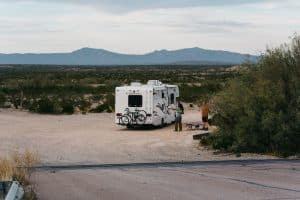 RV on a side road