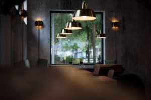 a cafe with the best indoor solar lights