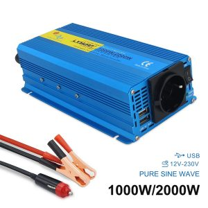 2000W Peak Home/car Full Power Inverter DC 12V to 110V-230V Portable Car Power Pure Sine Wave EU/AU/UK/US Scoket inverter